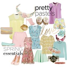 """Pretty Pastel Spring Essentials with CS Gems!"" by cs-gems on Polyvore"