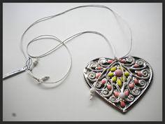 Handmade Jewelry Rg: Heart Necklace