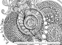 Refuse to be Basic Zentangle Doodle Drawing by KathyAhrens on deviantART