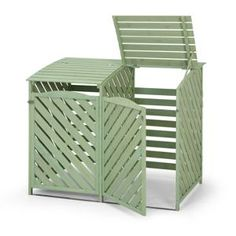 Double Wheelie Bin Store - Sage  sc 1 st  Pinterest & Hate having to look at the wheelie bins in the corner of your garden ...