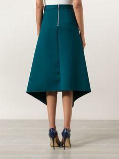 Dion Lee драпированная юбка с асимметричным подолом