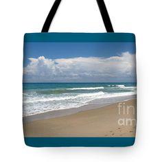 "Treasure Coast Beach Florida Seascape C4 Tote Bag 18"" x 18"" #Photo #Treasure #Coast #Beach #Florida #Seascape C4 by #Ricardos #Creations #RicardosCreations"