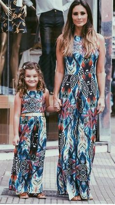 2017 Family Bohemia Dress Mother And Daughter Girls Maxi Long Dresses Flower Printing Mom And Me Cotton Family Matching Clothes