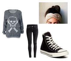 """charlotte 11"" by hunny1125 ❤ liked on Polyvore featuring H&M and Converse"