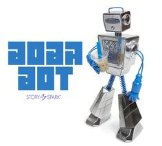 STORY SPARK's Original Boba Bot Character Brought to Life! #Cute #Resin #Robot #SpankyStokes