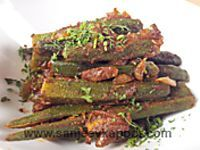 How to make Stuffed Karela -Bitter gourd stuffed with fresh indian spices. Indian Vegetarian Dishes, Indian Food Recipes, Vegan Vegetarian, Vegetarian Recipes, Cooking Recipes, Grain Free, Dairy Free, Gluten Free, Dried Mangoes