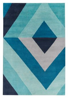 Sybil Diamond Blue by Jonathan Adler for The Rug Company