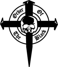 Black Label Society Order of Black Skull Logo Vinyl Decal Sticker