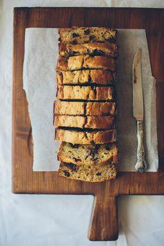 Chocolate Banana Bread // cake crumbs & beach sand
