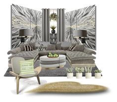 """""""My Favorite Home for Spring 2016"""" by ragnh-mjos ❤ liked on Polyvore featuring interior, interiors, interior design, home, home decor, interior decorating, ESPRIT, Old Hickory Tannery, Hubbardton Forge and Sun Zero"""