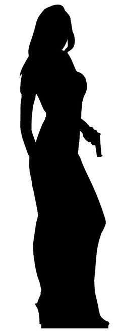 Amazon.com - Secret Agent (James Bond Style) Girl Single Pack - Silhouette Lifesize Cardboard Cutout / Standee / Standup - Prints $40