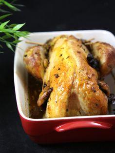Pintade farcie caramélisée aux épices - Recette de cuisine Marmiton : une recette