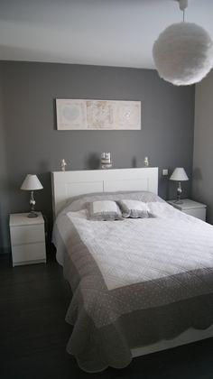 #inspiration #décoration #chambre #gris #blanc #bedroom #white #grey