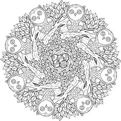 old souls free printable mandala coloring page from mondaymandalacom - Color Book Printable