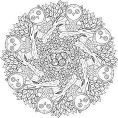 """Old Souls"" free printable mandala coloring page from mondaymandala.com."
