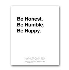 Be Honest Print