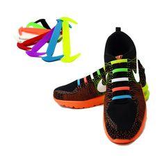 SYTAT 12 Pc/ensemble Courir Aucun Cravate Lacets De Mode Unisexe Femmes Hommes de Sport Élastique Silicone Lacet De Chaussure Tous Sneakers Fit Bracelet dans Lacets de Chaussures sur AliExpress.com | Alibaba Group