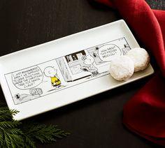 Peanuts Porcelain Cookie Serving Platter | Pottery Barn