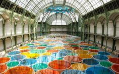 Daniel Buren - Excentrique(s), Grand Palais, Paris 2012