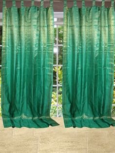 Mogul Interior Designs: Indian Sari Curtain Drapes #curtain #panel #drapes...