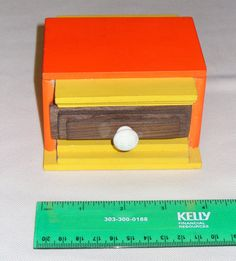 Brightly Painted Box with Drawer by CustomBox on Etsy, $15.00