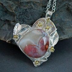 Berber Agate Heart PendantSilver Heart and by BarbaraKayJewelry