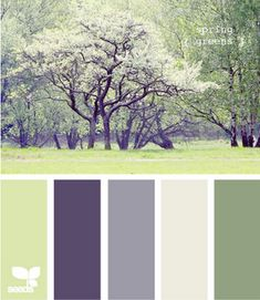 Love this color palette, but w/ just a touch of warmth for the dining room...I think...maybe too purple...maybe more celery and clear blue?