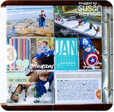 larger photos, one main journaling card