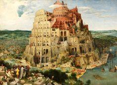 """ピーテル・ブリューゲル""""バベルの塔"""" 1563年 ネーデルランド"""