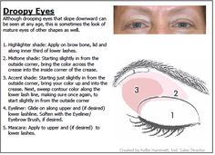 makeup for hooded droopy eyes - Google Search