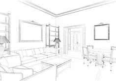 Eidomatica - sketch soggiorno/living room sketch