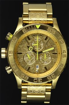 Nixon 42-20 Chrono All Gold Neon Watch - On Sale at Watchismo