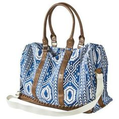 Mossimo Supply Co. Print Weekender Handbag - Blue/White from Target. Saved to Epic Wishlist. Purse Wallet, Clutch Bag, Handbag Accessories, Fashion Accessories, Cute Bags, Textiles, Purses And Handbags, Blue And White, Shoe Bag