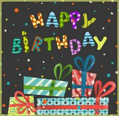 Colorful birthday background vector presents by HelenStock on VectorStock® Send Birthday Card, Happy Birthday Clip Art, Birthday Wishes For Kids, Birthday Wishes Greetings, Happy Birthday Template, Happy Birthday Wallpaper, Happy Birthday Flower, Happy Birthday Pictures, Colorful Birthday