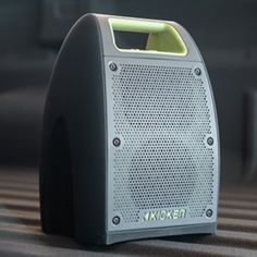 Wireless Bullfrog® Portable Bluetooth Waterproof Speaker in Green/Gray by Kicker® - Associated Accessories Waterproof Bluetooth Speaker, Music System, You Sound, Green Accents, Green And Grey, Gray, Corvette, Chevrolet, Compact