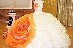 Big orange rose gypsy wedding. I like it but. With out the orange