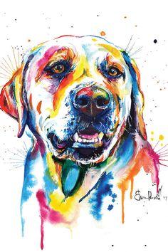 beagle Dog Hund 20x25 Kunstdruck Aquarell Poster Art Print