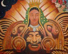 La Tonantzin Coatlicue, Deidad Mexica  Nuestra Madre Tierra, venereda por los Aztecas, antes de la llegada de los españoles y se le apareció al macehual Kuautlatohuac, (Juan Diego), hablándole en nahuatl, diciéndole que ella era LA TEKUHATLASUPEU, La Verdadera y Unica Madre de Dios por quien se vive, conocida mundialmente, como la Virgen d e Guadalupe, Reina de Mexico y Emperatriz de Todas las Américas, por XOCHIPITZAHUATL MIZTLI