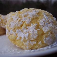 """Most ridiculously easy cookie ever... """"Cool Whip Cookies""""! Any flavor cake mix, cool whip, and eggs....after you mix the dough chill it a bit, then use a cookie scoop (because the dough is very sticky) to measure out your cookie dough, I roll my balls in powdered sugar first, then bake!!! DELICIOUS  One of my favorite combinations is lemon cake mix, a teaspoon of coconut extract, two tablespoons lemon zest, and a 1/2 cup of shredded coconut~ add all those ingredients to the main ingredients"""