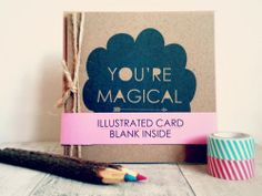 Your Magical Greetings Card via House Of Wonderland. Click on the image to see more!