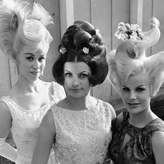 May 1964 the winners of Munich's Best Coiffure contest. Bad Hair Day, Big Hair, Your Hair, Hj History, 1960s Hair, Hair Raising, Hair Shows, Retro Hairstyles, Prom Hairstyles