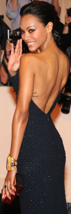 Bracelet, if I could wear such a sexy backless dress, ooooh why not!