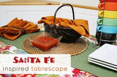 From Sophistishe.com Create a Santa Fe Inspired Tablescape with great finds from @WorldMarket #WorldMarketSweeps