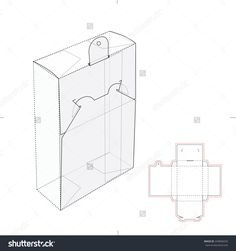 Box With Ear-Hook, Hanging Loop And Die Cut Template Stock Vector Illustration 249858259 : Shutterstock