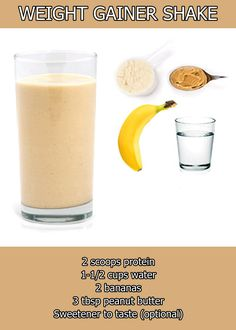Peanut Butter and Banana Mass Gainer Protein Powder Shake Recipe How to make protein shakes? #protein_shakes_recipes #protein_shake #protein_snacks #protein_powder_recipes #protein_powder_shakes #protein_shakes_to_gain_muscle #how_to_make_protein_shakes #whey_protein_recipes #whey_protein_Shakes Copy from Bodybuilding site