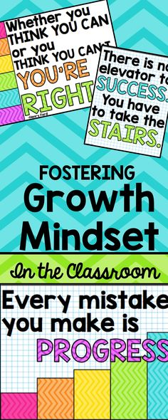 Fostering Growth Mindset in the Classroom