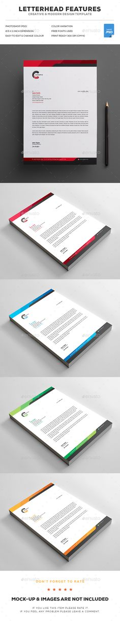 Business Company Letterhead Template - Free small, medium and - letterhead template