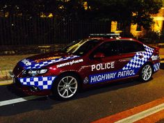 QLD police highway patrol  FG Falcon.  Australia