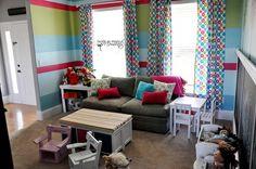 small playroom ideas | Playroom Ideas by janis- love the stripes!