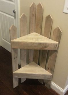 Made to fit in a corner indoors or outdoors. I saw something similar to it made from new lumber and decided to make on from pallets. I think the pallets make for a nicer look than new lumber. Submitted by:…